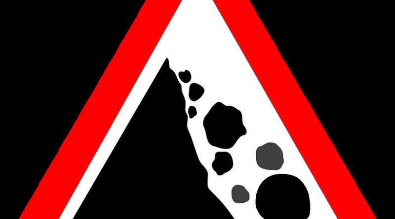 Segnale Pericolo Frana