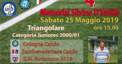 Cologna Spiaggia, 4° memorial Silvino D'Emilio