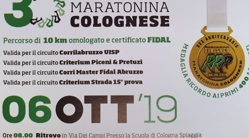Maratonina Colognese 2019
