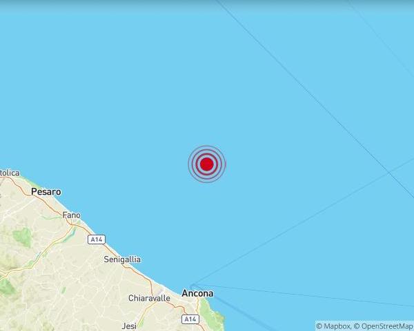 Terremoto Mare Adriatico Ancona 11 febbraio 2020