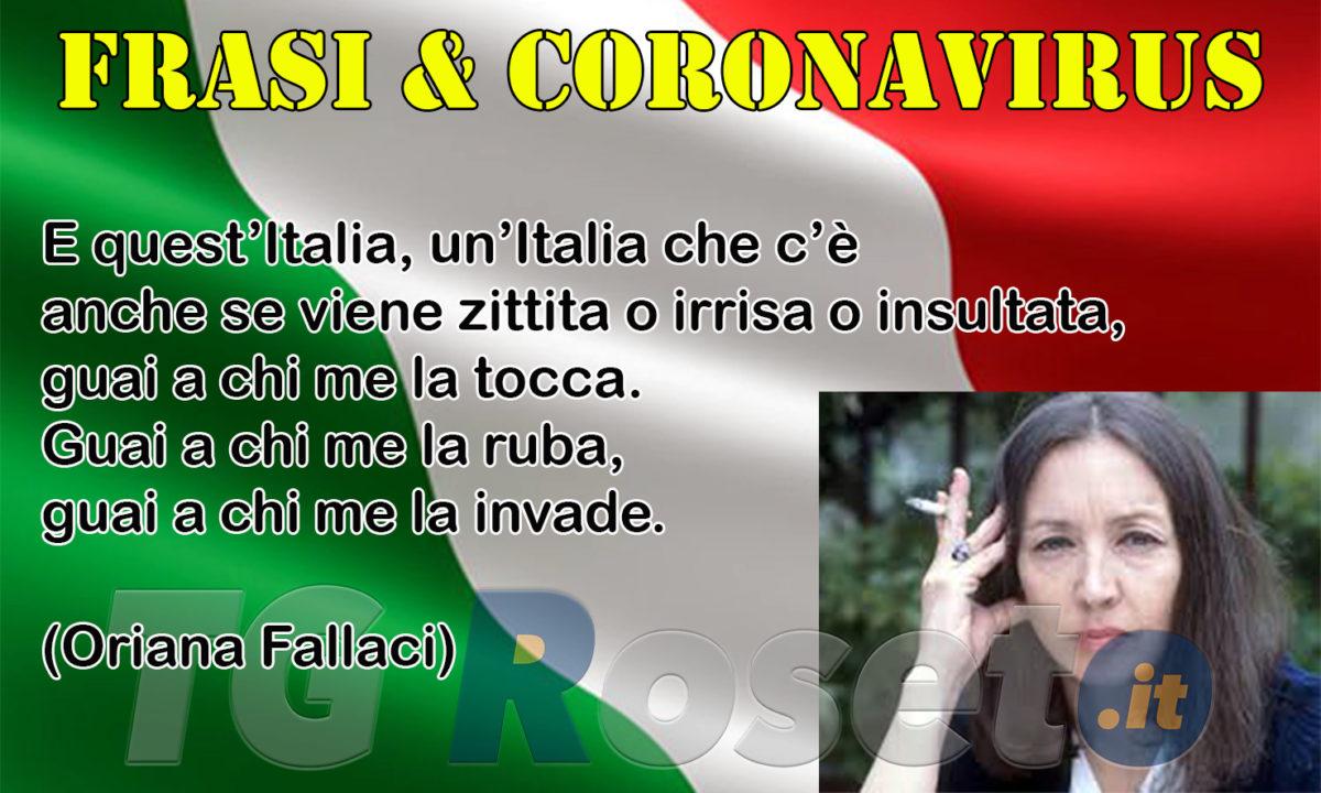 Frasi E Coronavirus Oriana Fallaci Tg Roseto