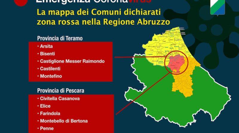 Comuni Zona Rossa Regione Abruzzo