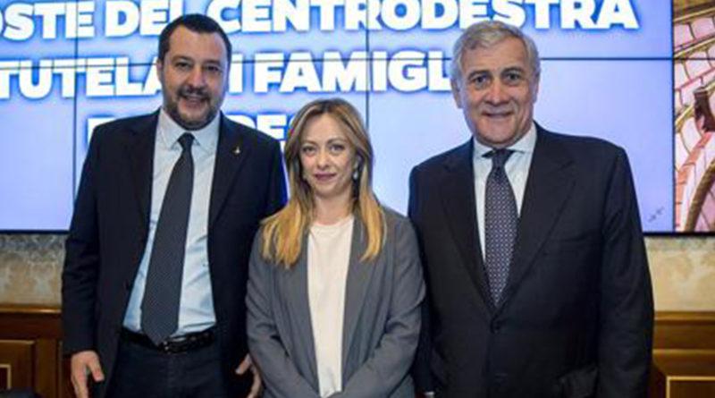 Salvini, Meloni Tajani