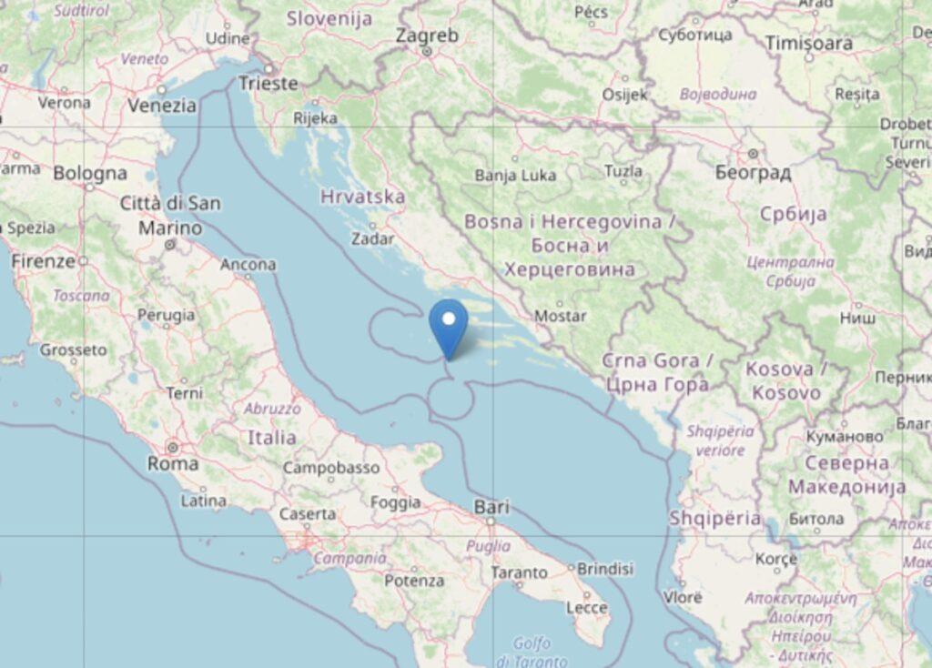 Terremoto Mare Adriatico Abruzzo