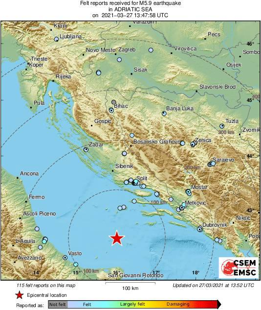 Terremoto Mare Adriatico